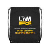 Black Drawstring Backpack-OSHER