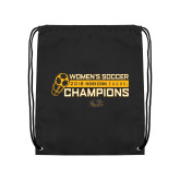 Black Drawstring Backpack-2018 Womens Soccer Champions