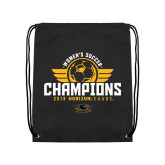 Black Drawstring Backpack-2019 Womens Soccer Champs