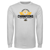 White Long Sleeve T Shirt-2019 Womens Soccer Champs