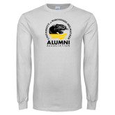 White Long Sleeve T Shirt-Alumni Association