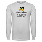 White Long Sleeve T Shirt-Lubar School of Business Executive MBA