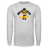 White Long Sleeve T Shirt-Milwaukee Alumni Full Body