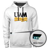 Contemporary Sofspun White Hoodie-University Banner