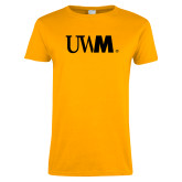 Ladies Gold T Shirt-UWM
