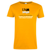Ladies Gold T Shirt-Architecture and Urban Planning