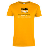 Ladies Gold T Shirt-Continuing Education