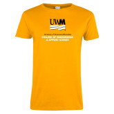 Ladies Gold T Shirt-Engineering and Applied Sciences