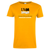 Ladies Gold T Shirt-Graduate School