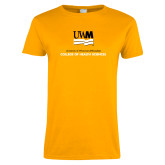 Ladies Gold T Shirt-College of Health and Sciences
