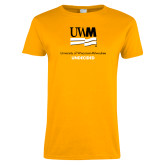 Ladies Gold T Shirt-Undecided