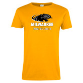 Ladies Gold T Shirt-Womens Soccer