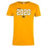 Ladies Gold T Shirt-Class Of 2018