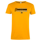 Ladies Gold T Shirt-2018 Womens Soccer Champions
