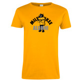 Ladies Gold T Shirt-Milwaukee Alumni Full Body
