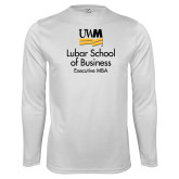 Performance White Longsleeve Shirt-Lubar School of Business Executive MBA