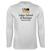 Syntrel Performance White Longsleeve Shirt-Lubar School of Business Executive MBA