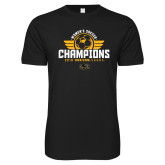 Next Level SoftStyle Black T Shirt-2019 Womens Soccer Champs