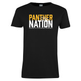 Ladies Black T Shirt-Panther Nation