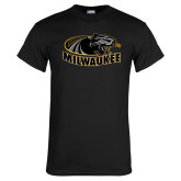Black T Shirt-Official Logo Distressed