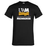 Black T Shirt-University Mark Stacked