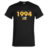 Black T Shirt-Class Of Personalized Year Stacked, Personalized year