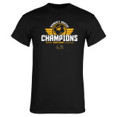 Black T Shirt-2019 Womens Soccer Champs