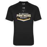 Under Armour Black Tech Tee-Baseball Abstract Plate Design