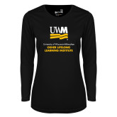 Ladies Syntrel Performance Black Longsleeve Shirt-OSHER