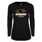 Ladies Syntrel Performance Black Longsleeve Shirt-Volleyball