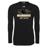 Under Armour Black Long Sleeve Tech Tee-Mens Soccer