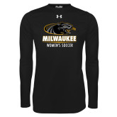 Under Armour Black Long Sleeve Tech Tee-Womens Soccer