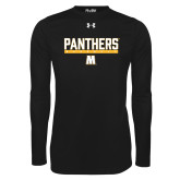 Under Armour Black Long Sleeve Tech Tee-Baseball Bar Design
