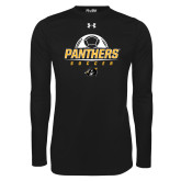Under Armour Black Long Sleeve Tech Tee-Soccer Ball Design