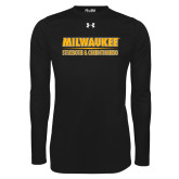 Under Armour Black Long Sleeve Tech Tee-Strength and Conditioning