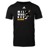 Adidas Black Logo T Shirt-Milwaukee Alumni Right Side Face