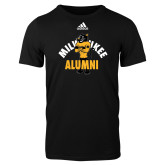 Adidas Black Logo T Shirt-Milwaukee Alumni Full Body