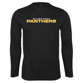 Syntrel Performance Black Longsleeve Shirt-Milwaukee Stacked