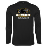 Performance Black Longsleeve Shirt-Womens Soccer