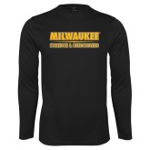 Performance Black Longsleeve Shirt-Strength and Conditioning