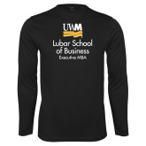 Performance Black Longsleeve Shirt-Lubar School of Business Executive MBA