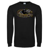 Black Long Sleeve T Shirt-Official Logo Distressed