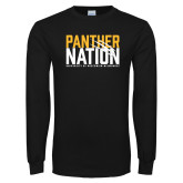 Black Long Sleeve T Shirt-Panther Nation