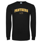 Black Long Sleeve T Shirt-Arched Panthers
