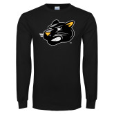 Black Long Sleeve T Shirt-Pounce Head