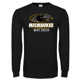 Black Long Sleeve T Shirt-Mens Soccer