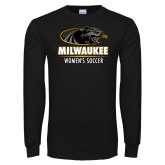 Black Long Sleeve T Shirt-Womens Soccer