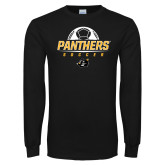 Black Long Sleeve T Shirt-Soccer Ball Design