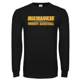 Black Long Sleeve T Shirt-Womens Basketball