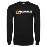 Black Long Sleeve T Shirt-Primary University Mark
